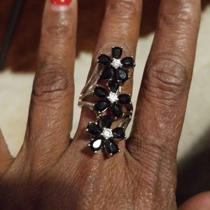 Jewelry - Sterling silver and onyx ring,  sz7